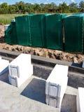 Wietrzący betonowi bloki Obrazy Stock