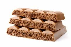 wietrzący czekoladowi kawałki Zdjęcie Stock