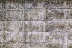 Wietrzejąca, Szorstka i brudna betonowy blok ściany tekstura, Zdjęcie Stock