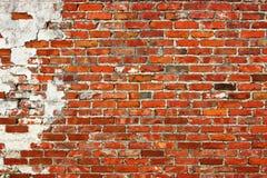 Wietrzejący ściana z cegieł tło Zdjęcie Royalty Free