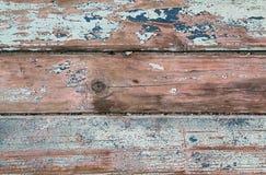 Wietrzejący stary drewniany naturalny błękitny turkusowy bielu pa zdjęcie stock