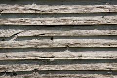 Wietrzejący Stary stajni drewno Fotografia Royalty Free