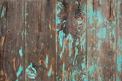 Wietrzeję blakł zielonego malującego drewnianego tło Zdjęcie Stock