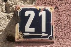 Wietrzeję emaliował półkową liczbę 21 Obraz Stock