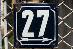 Wietrzeję emaliował półkową liczbę 27 Zdjęcia Royalty Free