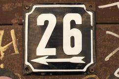 Wietrzeję emaliował półkową liczbę 26 Fotografia Stock