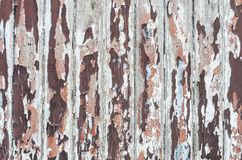 Wietrzeję malował drewnianą teksturę Zdjęcia Stock