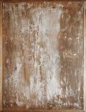 Wietrzeję pękał biel malującego drewnianego tło Obrazy Stock
