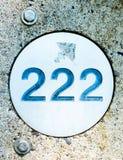 Wietrzejący numerowy markier na poczta Obraz Royalty Free