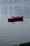 Wietrzejący rowboat blisko Yantai Chiny Zdjęcie Royalty Free