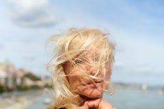 wietrznie w?osy zdjęcia royalty free