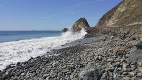Wietrzny dzień przy punktem Mugu, CA Zdjęcia Royalty Free