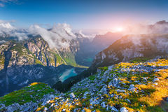 Wiev of canyon Landro (Durrensee) lake Stock Images
