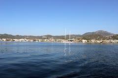 Wiev del mar de la ciudad de Marmaris Foto de archivo libre de regalías