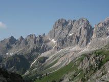 Wiev della montagna delle alpi Fotografia Stock