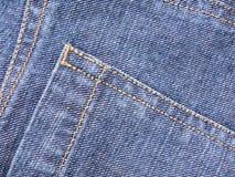 Wiev gentil des jeans Photographie stock