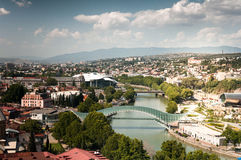 Wiev of Tbilisi city Royalty Free Stock Photos
