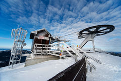 A wiev of a top ski station on chopok. Wiev of a top ski station on chopok Royalty Free Stock Photography