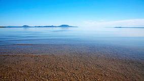 Wiev vers le lac Balaton images stock