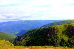 Wiew горы на le hohneck стоковые изображения rf