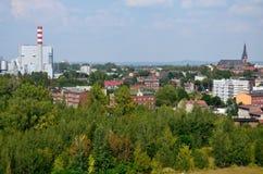 Wiew of the city (Chorzów). Wiew of the city (Chorzów in Poland stock image