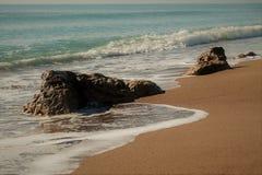 Wiew della spiaggia di estate Fotografia Stock