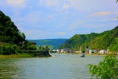 Wiew des Rheins in Deutschland Lizenzfreie Stockfotografie