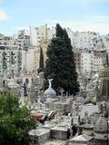 Wiew di Aereal di vecchio cimitero Buenos Aires - Argentina di Recoleta immagini stock libere da diritti
