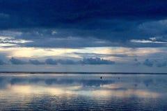 Wiew hermoso en la isla Indonesia del gili Foto de archivo