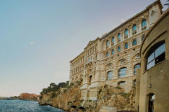 Wiew of Oceanographic museum in Principality of Monaco. Wiew of Oceanographic Institute museum in Principality of Monaco Royalty Free Stock Photo
