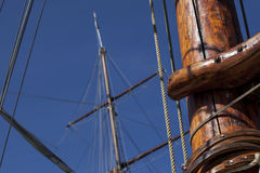 Wiew of old sailing ship Royalty Free Stock Photo