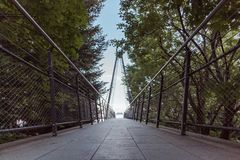 Wiew of the panoramic bridge in cimetta Locarno royalty free stock images