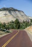 Wiew of road in Utah Royalty Free Stock Photos