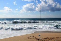 Wiew ventoso della spiaggia di estate Immagini Stock Libere da Diritti