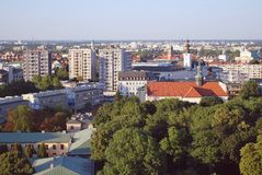 Wiew of Warsaw. Stock Photo