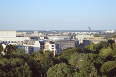 Wiew of Warsaw. Royalty Free Stock Photography