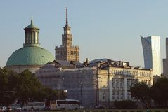 Wiew of Warsaw. Royalty Free Stock Photos