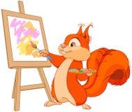 Wiewiórczy artysta Obraz Royalty Free