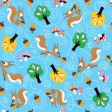 Wiewiórka wzór ilustracja wektor