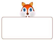Wiewiórka z sztandarem Zdjęcia Royalty Free