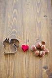 Wiewiórki ciastka krajacz kocha hazelnuts Obraz Royalty Free