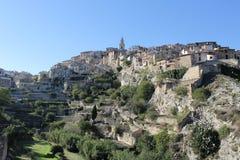 Wiews eller landskap av den Bocairent byn Royaltyfria Bilder