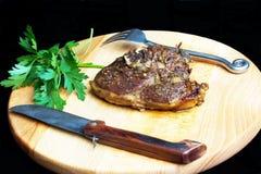 Świeży jagnięcy mięsny stek Fotografia Royalty Free