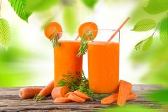 Świeży owocowy sok, zdrowi napoje Obraz Royalty Free
