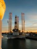 Wieży wiertniczej Paragon C463 w porcie IJmuiden Zdjęcia Royalty Free
