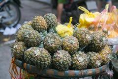 Świezi ananasy w Wietnam Zdjęcie Stock