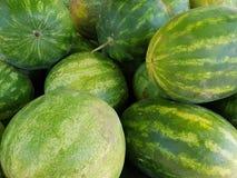 Świezi arbuzy w rynku Zdjęcie Royalty Free