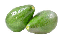 Świezi avocados na bielu Obraz Stock