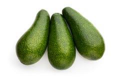 Świezi avocados na bielu Fotografia Royalty Free