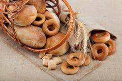 Świezi chleby. Zdjęcie Stock